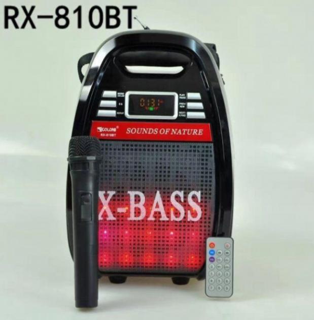Колонка-валіза Golon RX-810BT зі світломузикою, з мікрофоном +bluetooth - зображення 1
