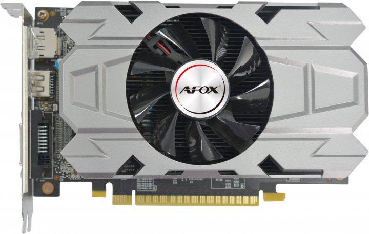 AFOX PCI-Ex GeForce GTX1050 2GB GDDR5 (128bit) (1355/7008) (DVI, HDMI, DisplayPort) (AF1050-2048D5H7) - зображення 1