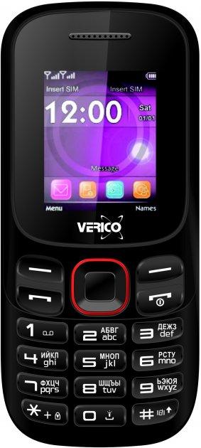 Мобильный телефон Verico A182 Black-Red - изображение 1
