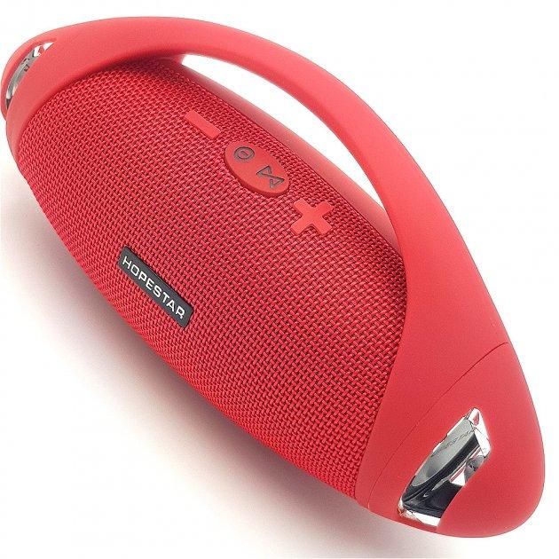 Беспроводная аккумуляторная колонка Bluetooth акустика FM MP3 AUX USB Hopestar H37 красная - изображение 1
