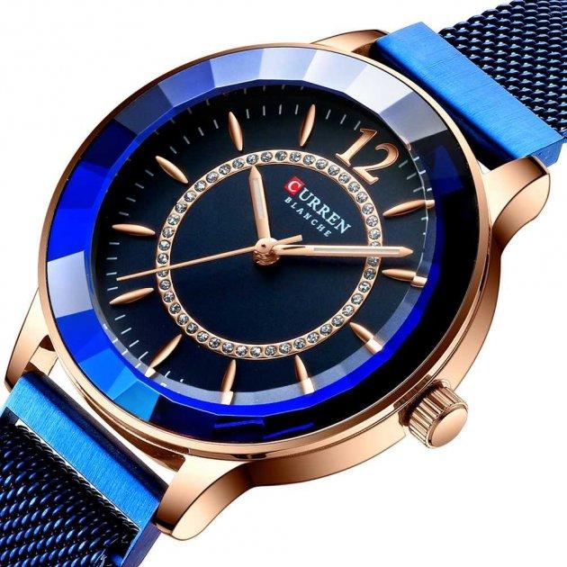 Жіночі наручні годинники Curren 9066 Blue-Cuprum - зображення 1