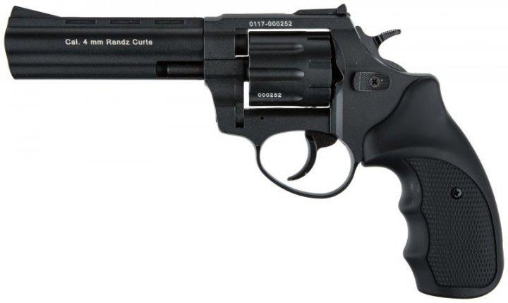 """Револьвер під патрон Флобера 4 мм Stalker S 4,5"""" Black (силуміновий барабан) - зображення 1"""
