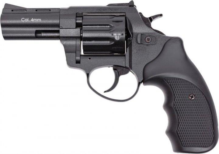 """Револьвер під патрон Флобера 4 мм Stalker S 3"""" Black (силуміновий барабан) - зображення 1"""