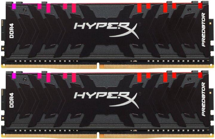 Оперативна пам'ять HyperX DDR4-3000 16384MB PC4-24000 (Kit of 2x8192) Predator RGB Black (HX430C15PB3AK2/16) - зображення 1