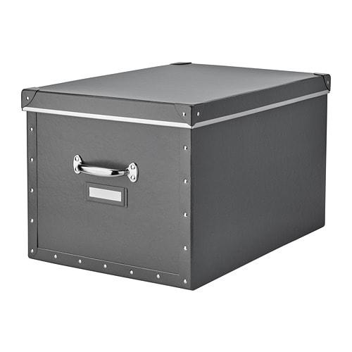 Контейнер для зберігання IKEA FJÄLLA 35x56x30 см темно-сірий 503.956.69 - зображення 1