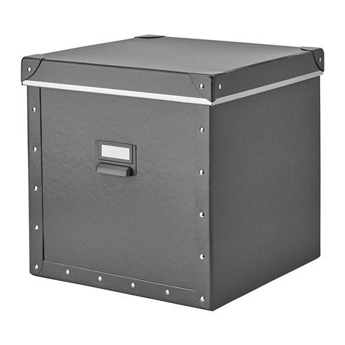 Контейнер для зберігання IKEA FJÄLLA 30x31x30 см темно-сірий 204.040.19 - зображення 1