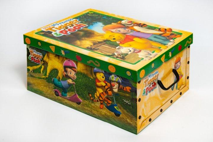 Коробка картонная с пластиковыми ручками Evoluzione 40 х 50 х 25 см Винни и Робин (18) - зображення 1