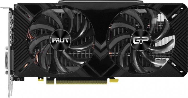 Palit PCI-Ex GeForce RTX 2060 GamingPro OC 6GB GDDR6 (192bit) (1830/14000) (DVI, HDMI, DisplayPort) (NE62060T18J9-1062A) - зображення 1