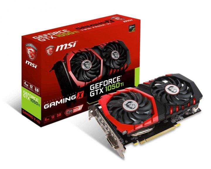 Відеокарта GeForce GTX1050Ti MSI OC GAMING 4Gb DDR5 128bit DVI/HDMI/DP 1493/7108 MHz GTX 1050 Ti GAMING X 4G - зображення 1