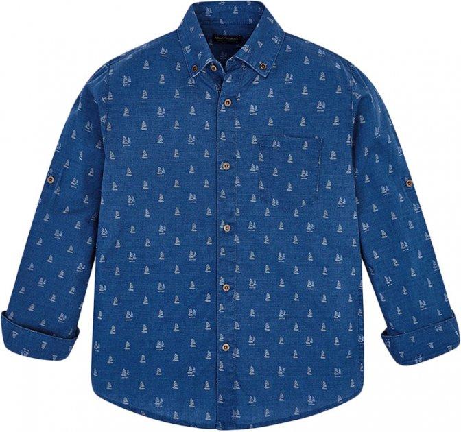 Рубашка Mayoral Boy 6134-87 12A Синяя (2906134087123) - изображение 1