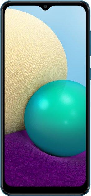 Мобильный телефон Samsung Galaxy A02 2/32GB Blue (SM-A022GZBBSEK) - изображение 1
