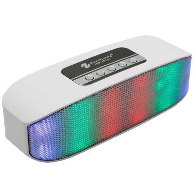 Бездротова акумуляторна Bluetooth колонка акустика New Rixing NR-2014 Original White - зображення 1
