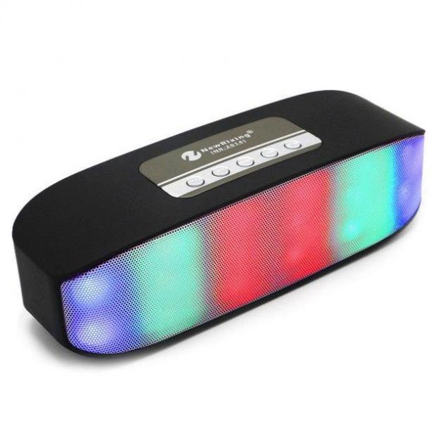 Беспроводная аккумуляторная Bluetooth колонка акустика New Rixing NR-2014 Original Black - изображение 1