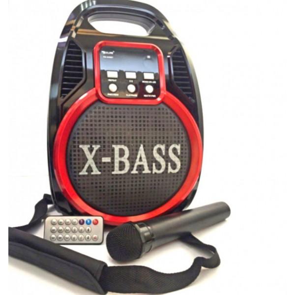 Акустична система Golon Bluetooth колонка комбо підсилювач з мікрофоном Чорна (RX-810) - зображення 1
