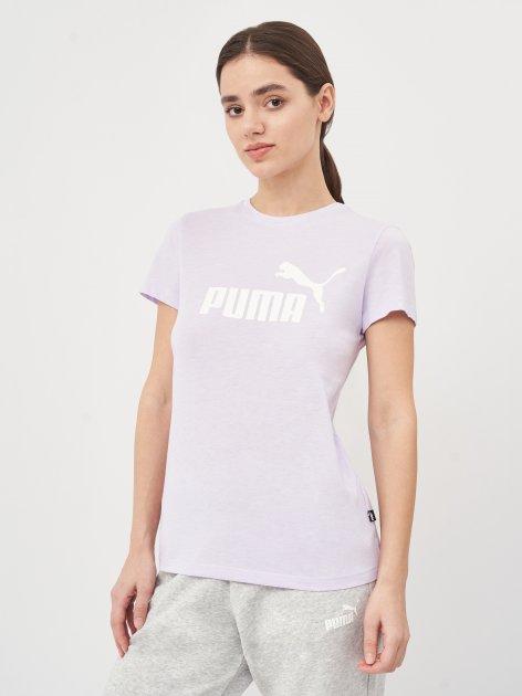 Футболка Puma ESS Logo Heather Tee 58687616 S Light Lavender Heather (4063697270893) - изображение 1