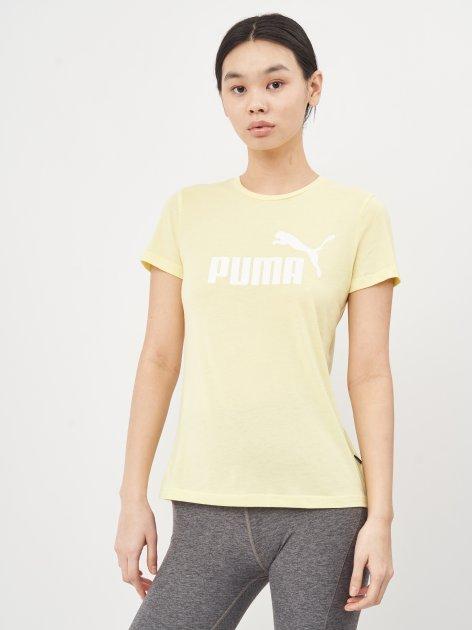 Футболка Puma ESS Logo Heather Tee 58687640 M Yellow Pear Heather (4063697258907) - изображение 1