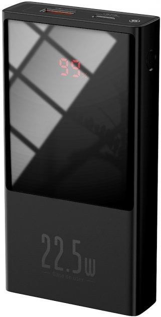 УМБ Baseus Super Mini 10000mAh 22.5 W 5A з технологією QC3.0+PD3.0 + Кабель USB to Type-C Чорний - зображення 1