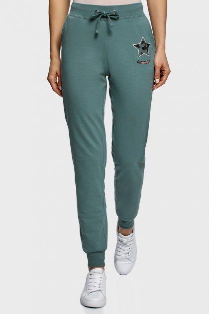 Жіночі зелені спортивні штани Oodji XS 16701042-5/46919/6C00P - зображення 1