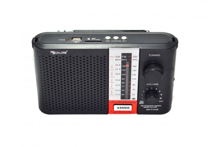 Радіоприймач RX-F12UR з FM/AM/SW Golon T-SH28677 - зображення 1