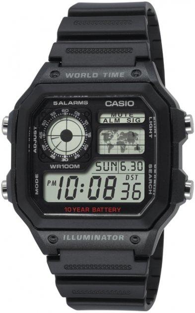 Чоловічі годинники Casio AE-1200WH-1AVEF - зображення 1