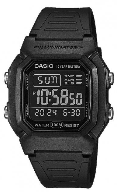 Чоловічий годинник Casio W-800H-1BVES - зображення 1
