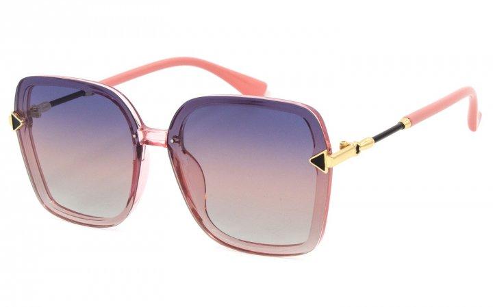 Солнцезащитные очки женские поляризационные SumWin 3229 Фиолетово-розовый градиент - изображение 1