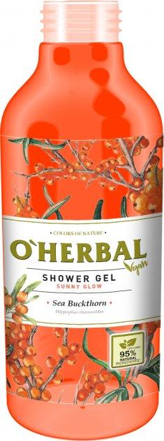 Гель для душа O'Herbal Vegan Солнечное сияние Облепиха 400 мл (5901845504850) - изображение 1