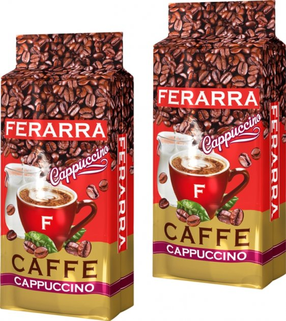 Упаковка молотого кофе Ferarra Cappuccino с ароматом капучино 250 г х 2 шт (2000006782243) - изображение 1