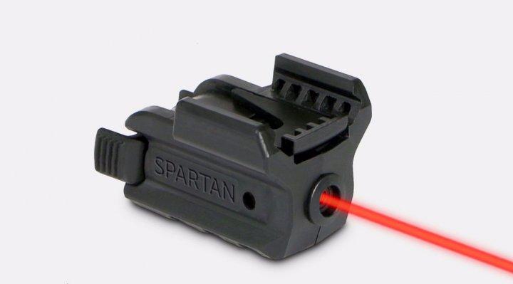 Лазерний целеуказатель LaserMax Spartan на планку Пикатинни (червоний, 650 нМ, CR1/3N, двостороннє управління) - зображення 1