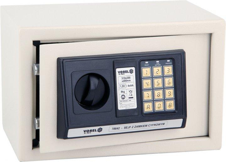 Сейф с электронным замком Vorel 78642 - изображение 1