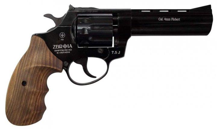 """Револьвер флобера ZBROIA PROFI-4.5"""" (чёрный / дерево) - изображение 1"""