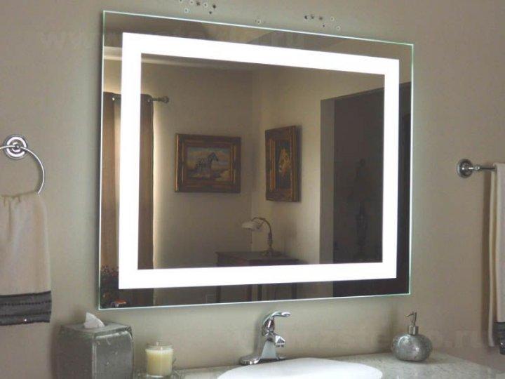 Зеркало Turister прямоугольное 90*50 см с передней LED подсветкой (ZPK9050) - изображение 1