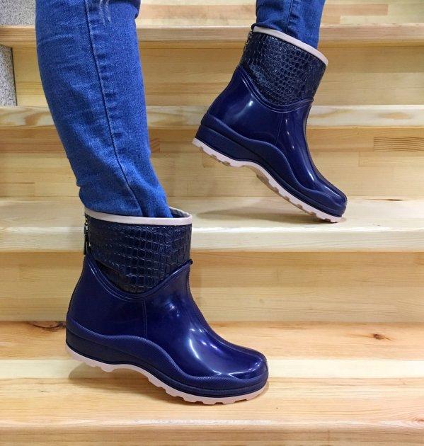 Резиновые сапоги Selena с утеплителем 41 25,7 см синие - изображение 1