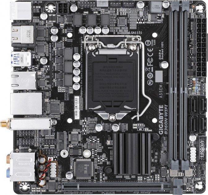 Материнська плата Gigabyte B360N Wi-Fi (s1151, Intel B360, PCI-Ex16) - зображення 1