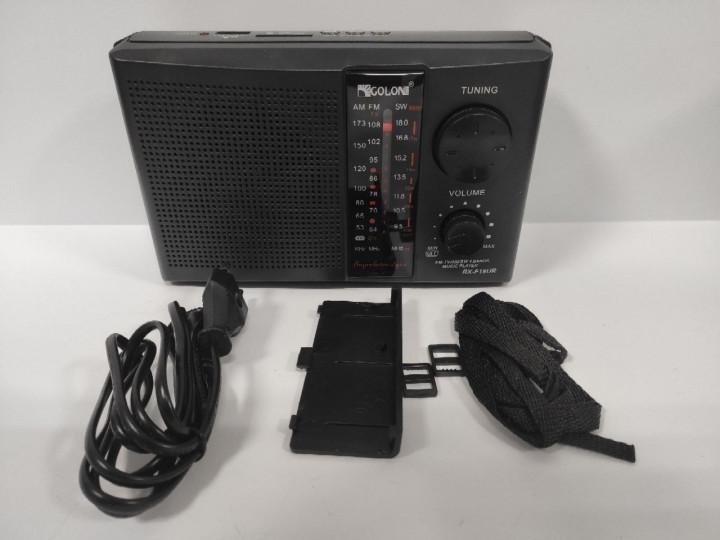 Радіоприймач-колонка акумуляторний Golon F18 MP3 USB SD Чорний - зображення 1