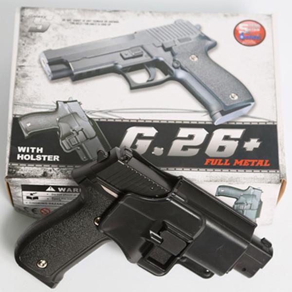 Страйкбольный пистолет Galaxy G.26+ (Sig Sauer 226) с кобурой - зображення 1