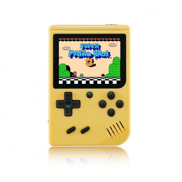 Портативная игровая ретро приставка 400 игр dendy денди SEGA 8bit SUP Game Box желтая - зображення 1