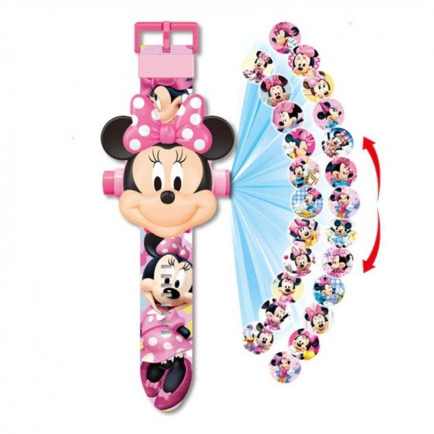 """Годинник наручний дитячий з 3d проектором """"Мінні Маус (Minnie Mouse)"""" - зображення 1"""