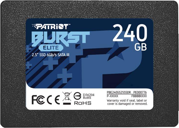 "Patriot Burst Elite 240GB 2.5"" SATAIII TLC (PBE240GS25SSDR) - изображение 1"