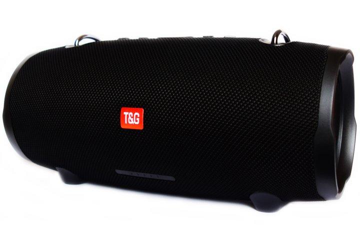 Портативна бездротова Bluetooth стерео колонка T&G Xtreme 2 Big Чорна (Xtreme 2 Black) - зображення 1