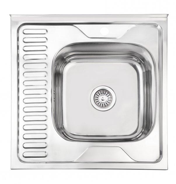 Кухонная мойка LIDZ 6060-R Polish 0.6 мм (LIDZ6060RPOL06) - изображение 1