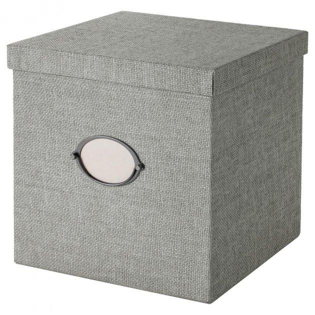 Коробка IKEA (ІКЕА) KVARNVIK 30х30х30см сіра (504.128.81) - зображення 1