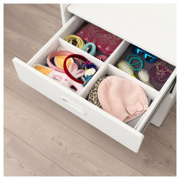 Коробка з відсіками IKEA (ІКЕА) RASSLA 25х41х9см біла (804.213.27) - зображення 1