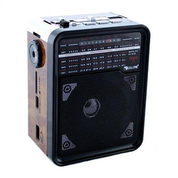 Радиоприемник GOLON RX-9100 Коричневый (BS2175) - зображення 1