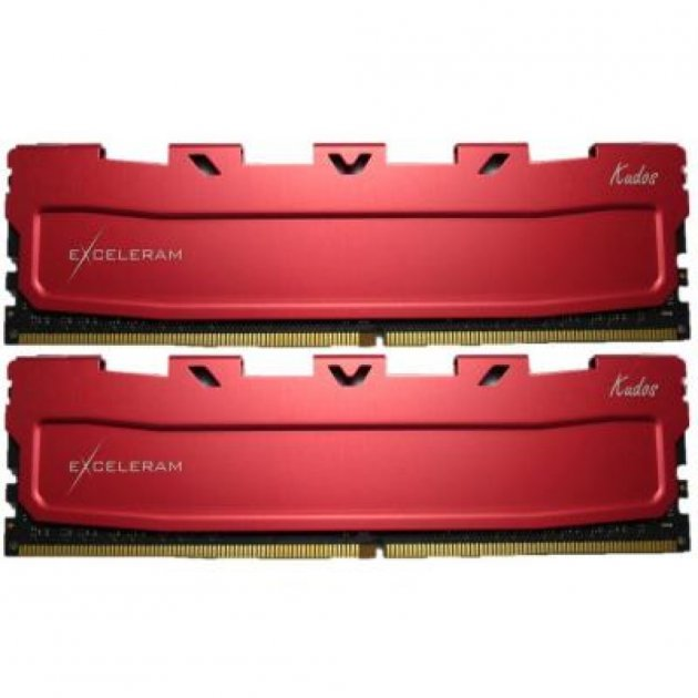 Модуль пам'яті для комп'ютера DDR4 16GB (2x8GB) 3000 MHz Red Kudos eXceleram (EKRED4163016AD) - зображення 1