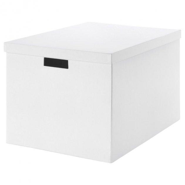 Коробка з кришкою IKEA TJENA 35x50x30 см біла 903.743.49 - зображення 1