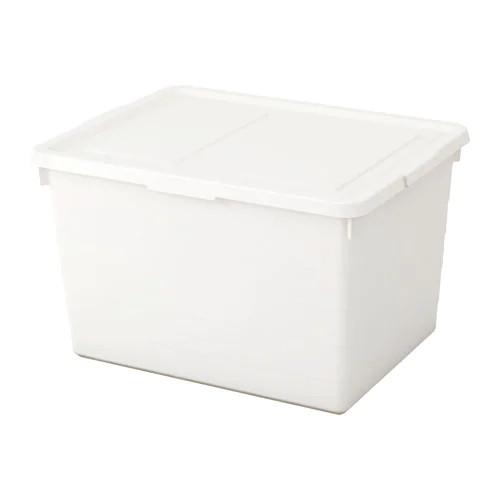 Коробка з кришкою IKEA SOCKERBIT 38x51x30 см біла 803.160.67 - зображення 1