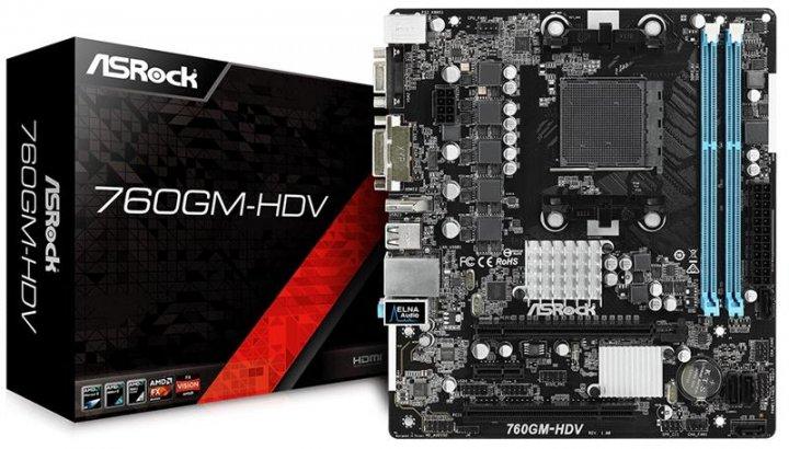 Материнская плата ASRock 760GM-HDV Socket AM3+ - изображение 1