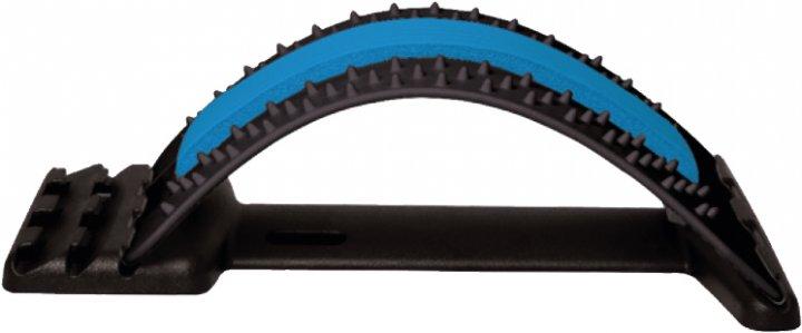 Тренажер мостик Торос-Груп для спины и позвоночника Черный с синим (6953314400872) (ТР-001) - изображение 1