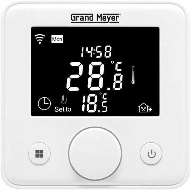 Программируемый терморегулятор Grand Meyer 3600 Вт 16А с функцией Wi-Fi (W330) - изображение 1